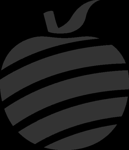 黑色苹果矢量logo图片