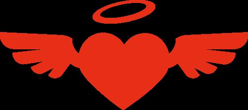 红色心形矢量logo图标矢量logo