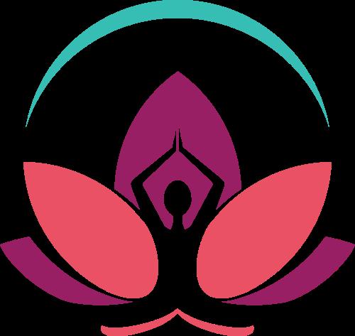 彩色瑜伽矢量logo元素