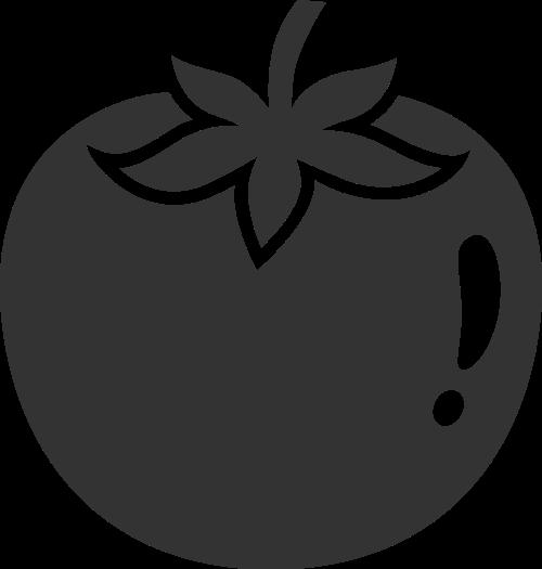 黑色柿子矢量logo