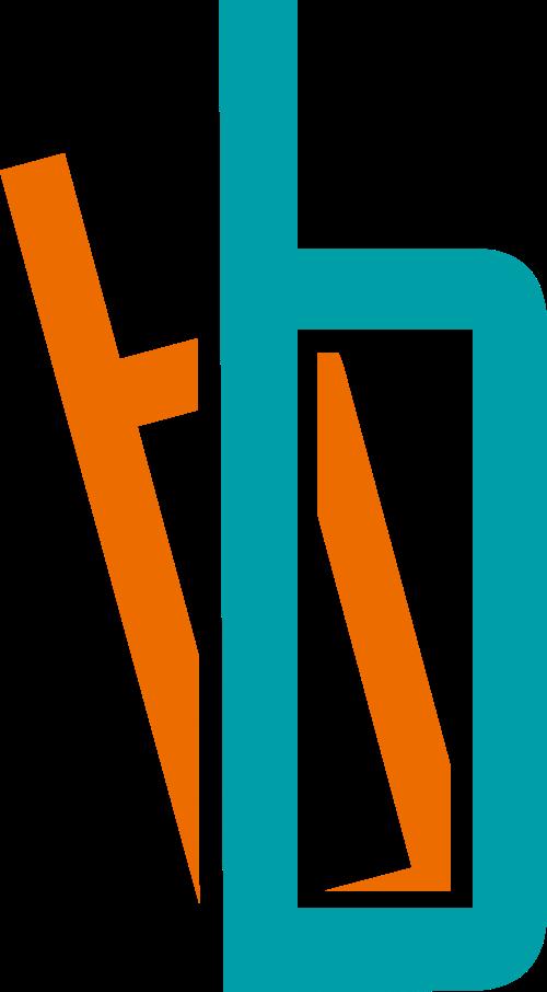 彩色字母b矢量logo