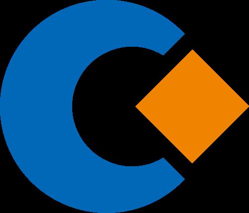 蓝色橙色字母C矢量logo