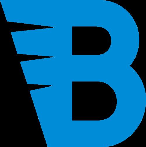 蓝色字母B矢量logo
