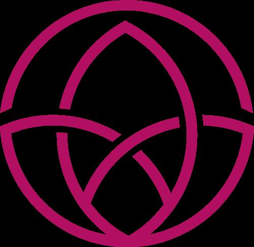 紫色瑜伽矢量logo图标