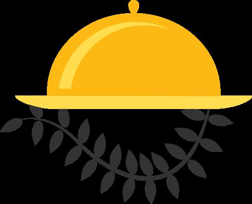 黄色餐饮矢量logo