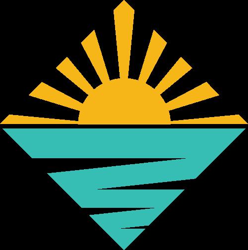 黄色绿色旅游矢量logo