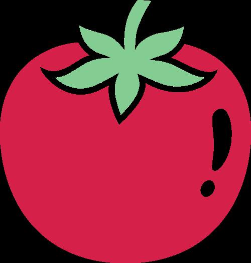 红色柿子矢量logo