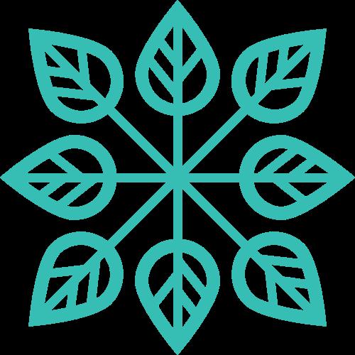 绿色叶子矢量logo图标