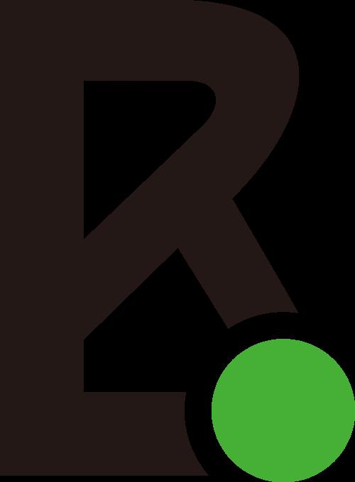 黑色绿色字母B矢量logo