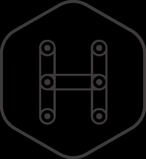 黑色六边形字母H矢量logo矢量logo