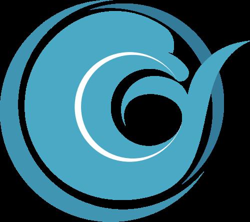 蓝色海豚祥云矢量logo矢量logo