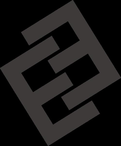 黑色正反字母E矢量logo