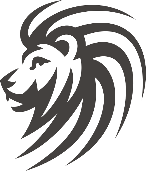 黑色狮子矢量logo元素