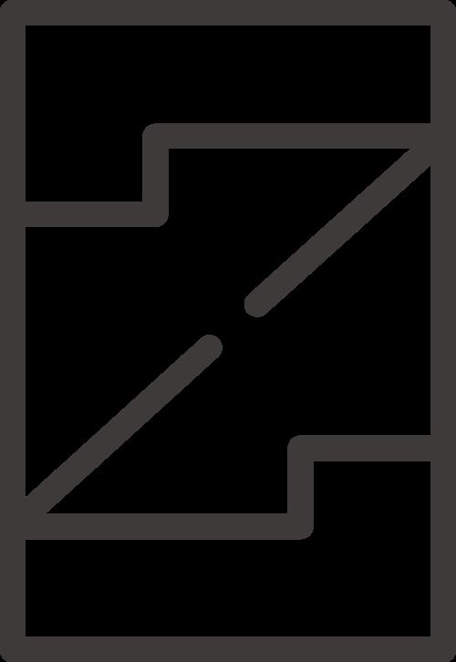 黑色边框字母Z矢量logo