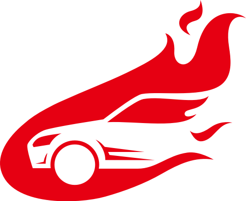 红色车矢量logo