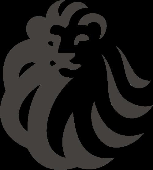 黑色狮子矢量logo