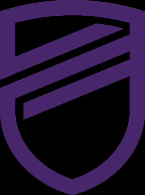 紫色盾牌矢量logo
