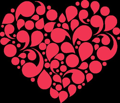 红色心形矢量logo