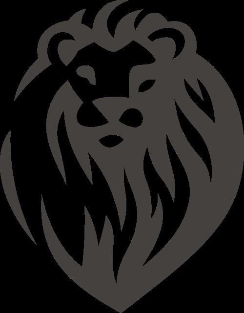 黑色狮子矢量logo图标