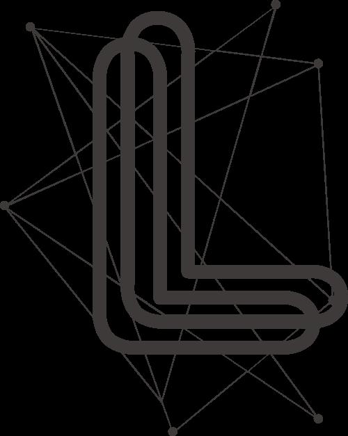黑色字母L矢量logo元素