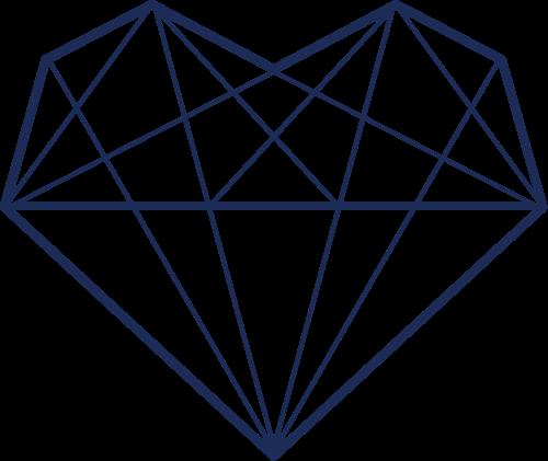 蓝黑色钻石矢量logo