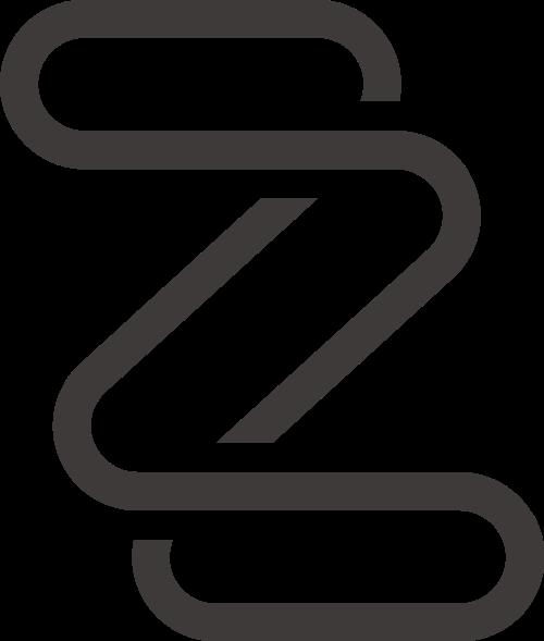 黑色字母Z矢量logo元素