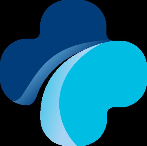 蓝色十字医疗矢量logo