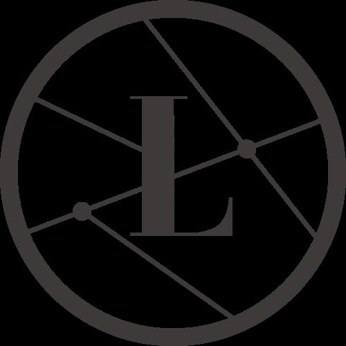 黑色圆形字母L矢量logo元素