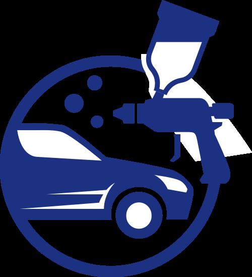 蓝色汽修矢量logo元素矢量logo