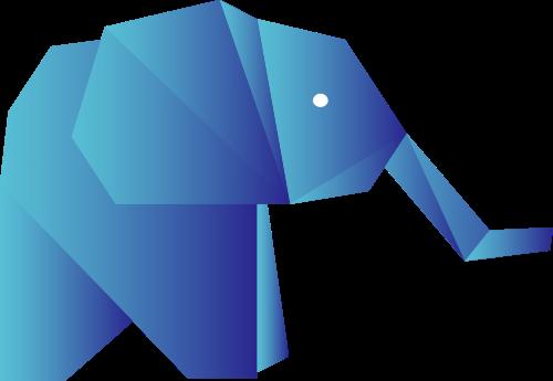 蓝色立体象矢量logo元素
