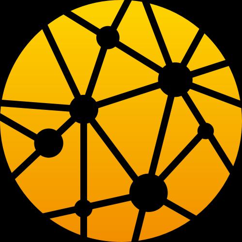 黄色圆形科技矢量logo图标
