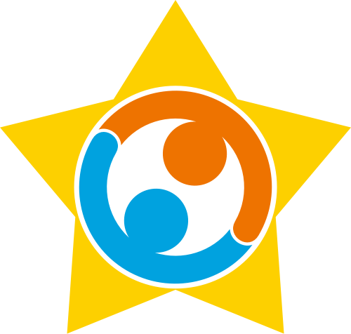 黄色星星人物矢量logo