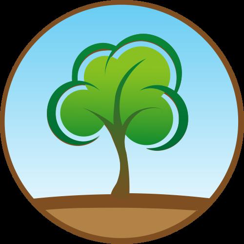 绿色树矢量logo图标