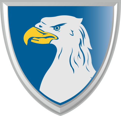彩色盾牌美国鹰矢量logo