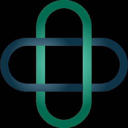 彩色圆形交叉矢量logo元素