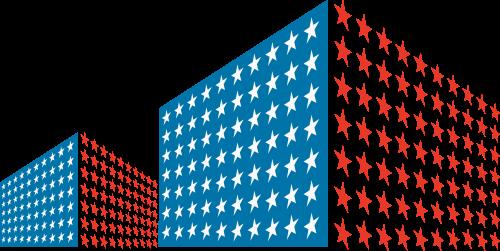 彩色大楼矢量logo元素