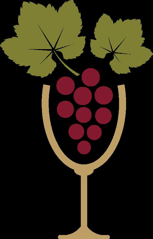 彩色红酒瓶矢量logo元素