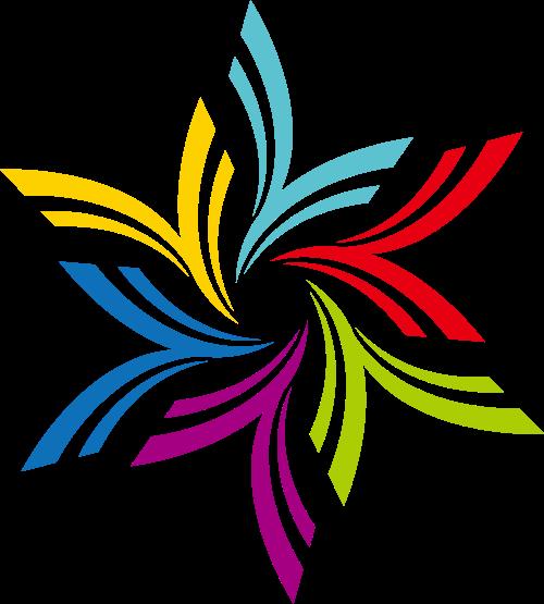 彩色花朵矢量logo
