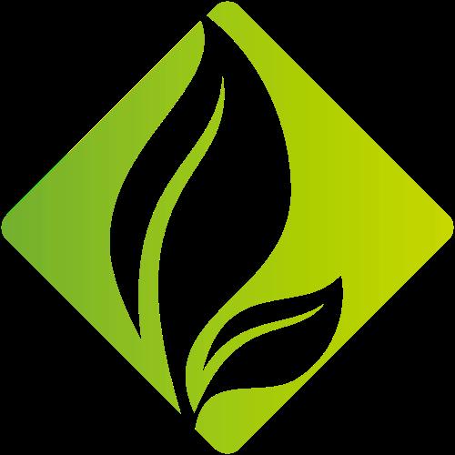 绿色方形叶子矢量logo