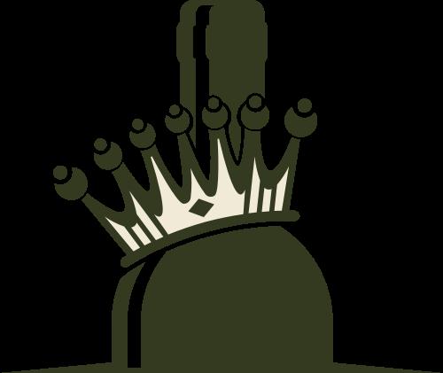 绿色酒瓶皇冠矢量logo