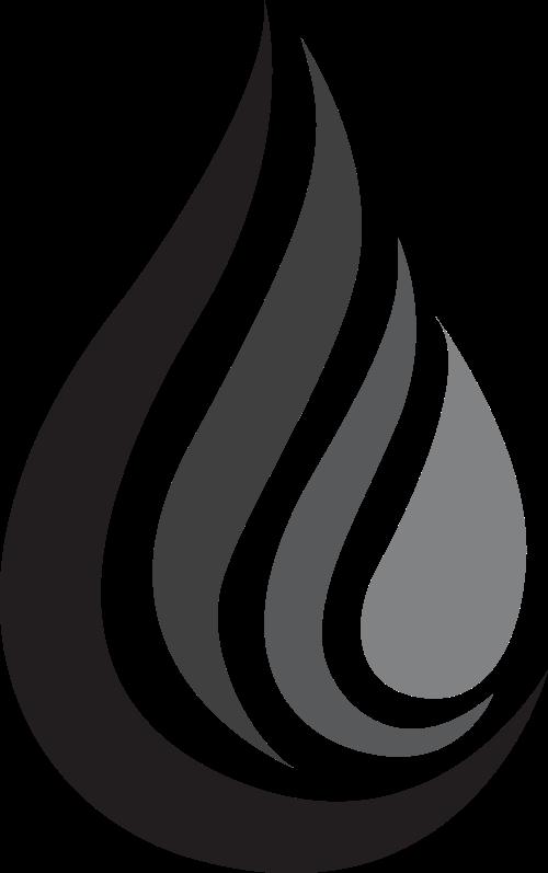 黑色火水滴矢量logo图标
