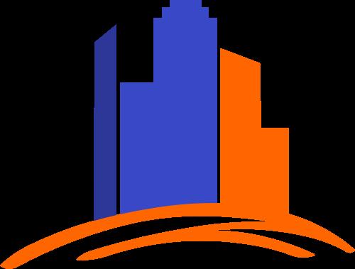 彩色建筑矢量logo图标