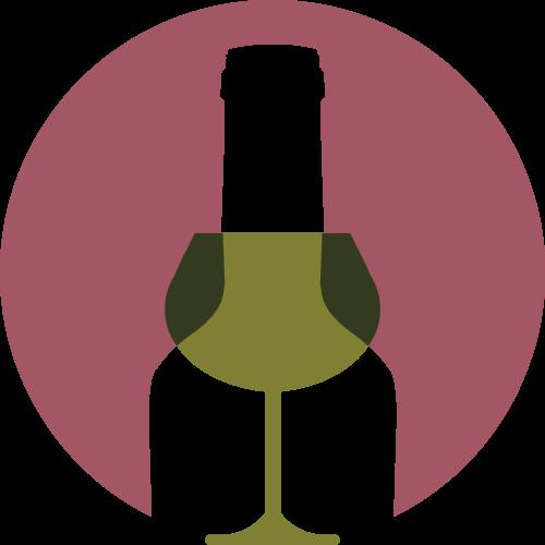 红色圆形酒瓶矢量logo