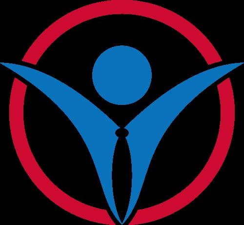 彩色人物矢量logo图标