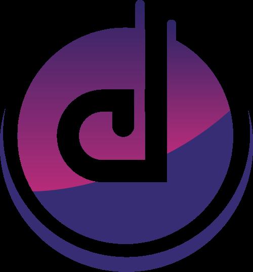 蓝色字母d矢量logo图标