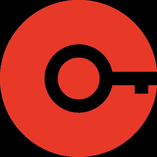 红色钥匙矢量logo图标