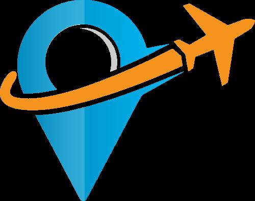 彩色飞机矢量logo图标