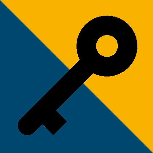 彩色正方形钥匙矢量logo图标