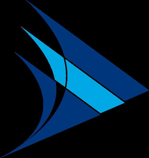 蓝色鱼形矢量logo图标