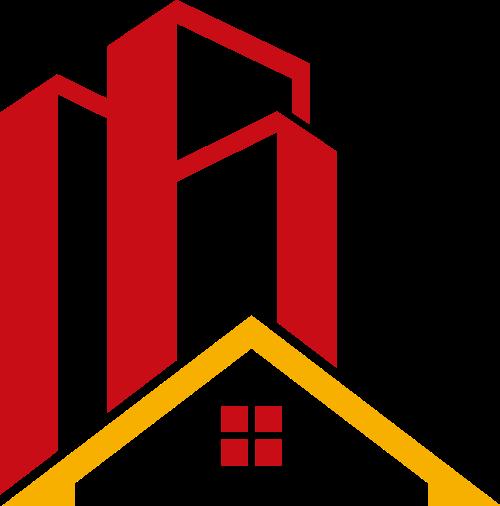 彩色房子建筑矢量logo
